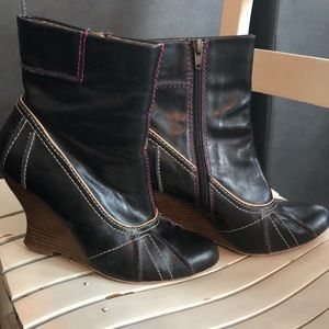 Black Wedge Kenzie Ankle Boots